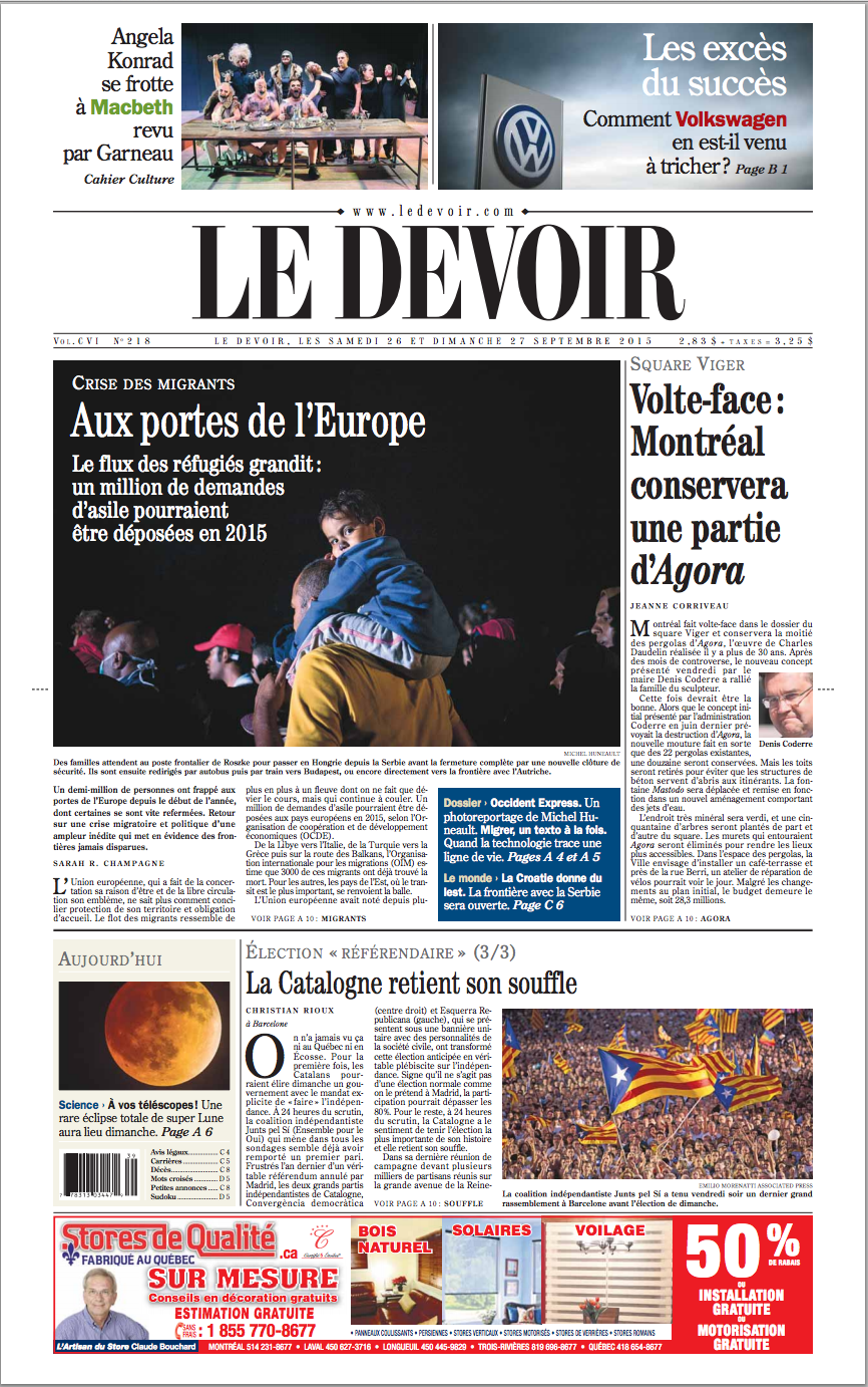 Le_Devoir_26_Septembrie_2015